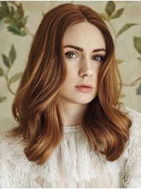 "15"" Wavy Capless Brown Layered Karen Gillan Wigs"