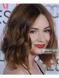 Flexibility Without Bangs Brown Chin Length Karen Gillan Wigs