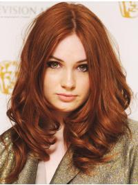 "Wavy Auburn Lace Front 16"" Layered Online Karen Gillan Wigs"