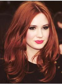 "Wavy Copper Lace Front 15"" Layered Best Karen Gillan Wigs"