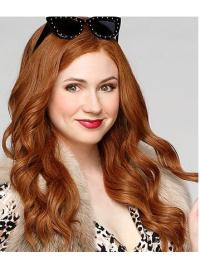 "18"" Lace Front Layered Blonde Hairstyles Karen Gillan Wigs"