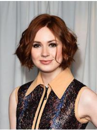"10"" Full Lace Bobs Auburn Stylish Karen Gillan Wigs"