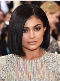 "Black Straight 11"" Bobs Kylie Jenner Hair"