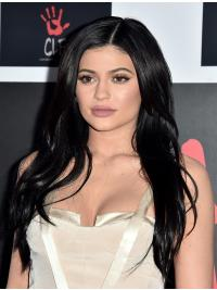 """Black Straight 20"""" Without Bangs Kylie Jenner Wigs"""