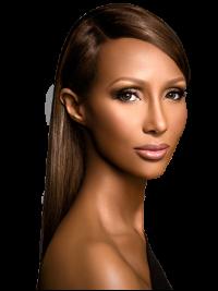Full Lace Long Yaki Remy Human Hair Iman Wigs