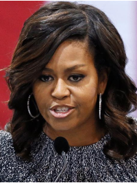 "Shoulder Length Wavy Lace Front Ombre 14"" Michelle Obama"