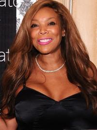 Elegant Wendy Williams Wavy Wigs Long Brown Remy Hair