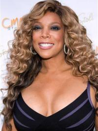 "Wendy Williams 22"" Curly Long Remy Human Hair"