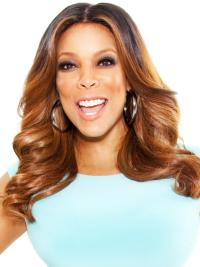Wendy Williams Middle Parting Medium Length Loose Wave Synthetic Wigs 16 Inches