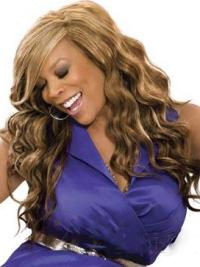 Wendy Williams Side Bang Long Body Wave Lace Front Synthetic Wigs 20 Inches