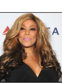 """Synthetic 22"""" Long Blonde Without Bangs Curly Capless Wendy Williams Wigs"""
