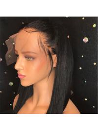 Straight Lace Front Human Hair Wigs With Baby Hair Pre Plucked Brazilian Lace Front Wig