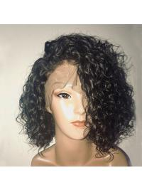 Short Full Lace Human Hair Wigs With Baby Hair Brazilian Remy Hair Lace Front Wigs
