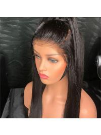 360 Lace Frontal Wig Pre Plucked With Baby Hair Brazilian Remy Straight Lace Front Human Hair Wigs