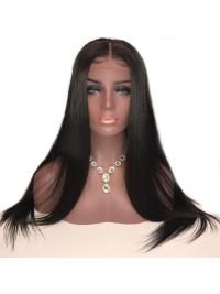 Straight Full Lace Human Hair Wigs With Baby Hair Brazilian Remy Hair Glueless Full Lace Wigs For Women