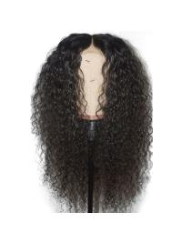 """Curly 360 Lace Frontal Wig 180% Density Brazilian Human Hair Wigs Pre Plucked Hairline 10""""-22"""""""