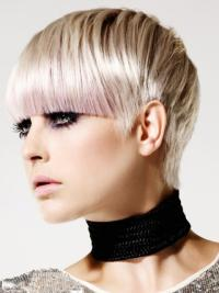 Young Fashion Dip Silver Capless Human Wigs