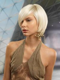Young Fashion Exquisite Hairstyle Platinum Blonde Smooth Wigs