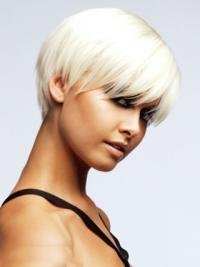 Young Fashion Endearing Short Style White Capless Wigs