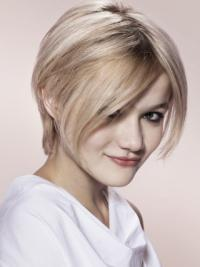 Young Fashion Blonde Short Capless Synthetic Wigs