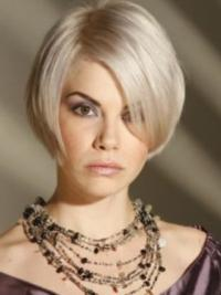 Young Fashion Platinum Blonde Short Straight Capless Synthetic Wigs
