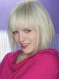 Young Fashion Perfect Silver Short Straight Wigs