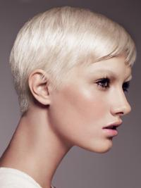 Young Fashion Platinum Blonde Blonde Yongthful Short Capless Wigs
