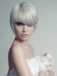 Young Fashion Grey Short Yongthful Cool Capless Wigs