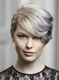 Young Fashion Silver Vintage waves Lace Front Wigs