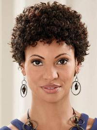 Brown Cool Classic Curly Short Wigs